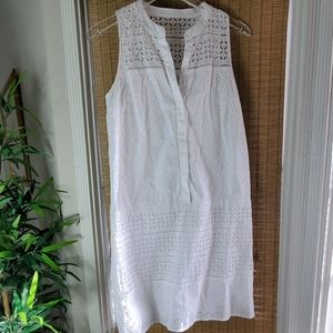 Loft White  Lace Shit Dress